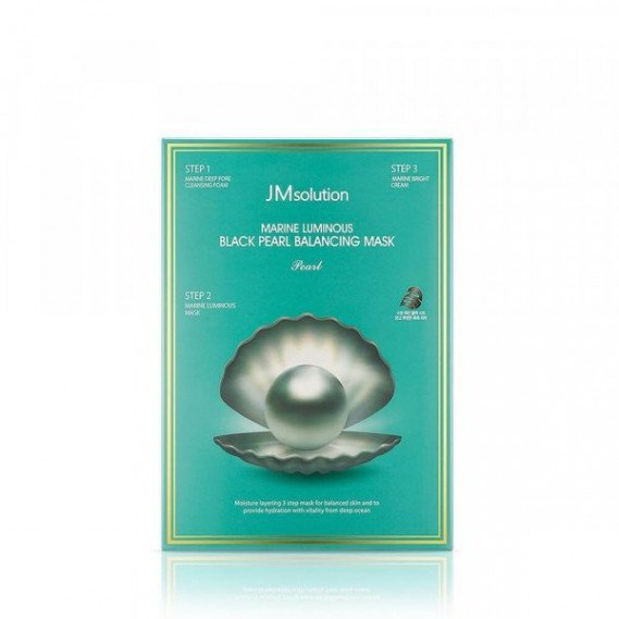 Трёхшаговый набор для сияния кожи JMsolution Marine Luminous Black Pearl Balancing Mask JMSolution 33 мл