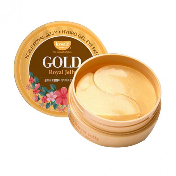 Омолаживающие гидрогелевые патчи с золотом и маточным молочком Koelf Gold & Royal Jelly Eye Patch 60 шт