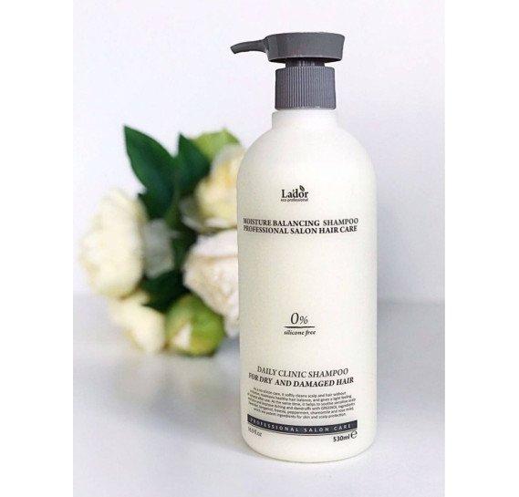 Шампунь увлажняющий оздоравливающий для поврежденных волос La'dor Moisture Balancing Shampoo 530 мл