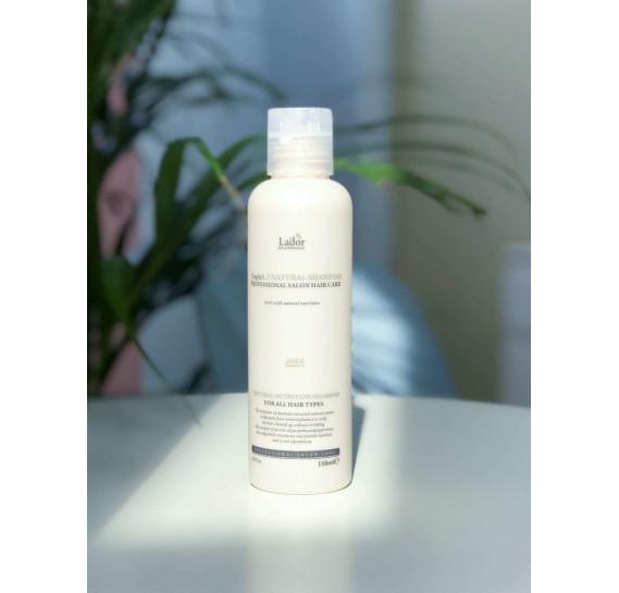 Безсульфатный натуральный шампунь с протеинами шелка La'dor Triplex Natural Shampoo 150 мл