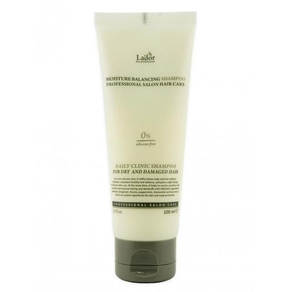 Шампунь увлажняющий оздоравливающий для поврежденных волос La'dor Moisture Balancing Shampoo 100 мл