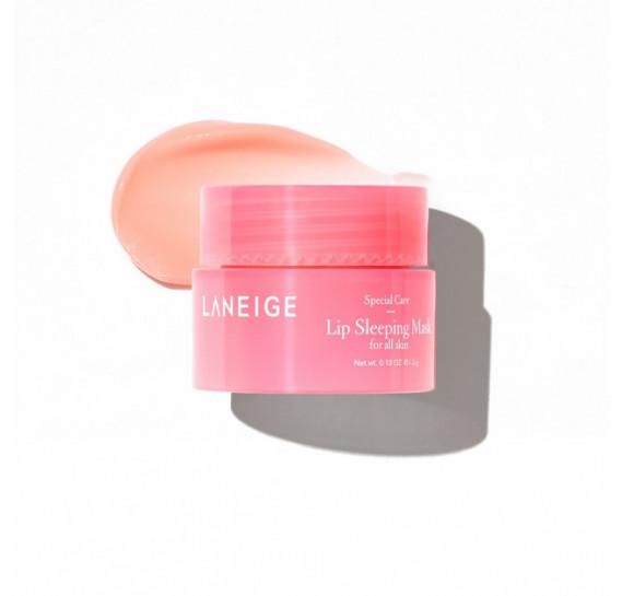 Набор: Ночная маска для губ с экстрактом ягод и Увлажняющая ночная маска Laneige  Lip Sleeping Mask and Water Sleeping Mask 3 мл + 15 мл