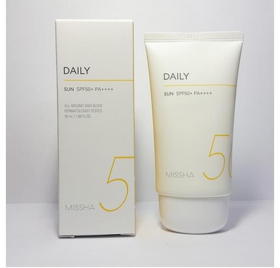 Солнцезащитный крем с экстрактом портулака Missha All-around Safe Block Daily Sun SPF50+ PA++++ MISSHA 50 мл