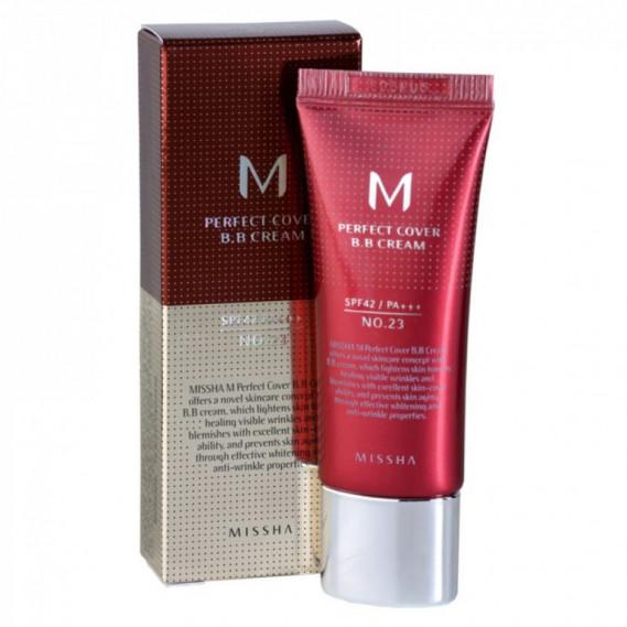 Матирующий ВВ Крем с идеальным покрытием Missha M Perfect Cover BB Cream SPF42 PA+++ #23 (20 мл) MISSHA