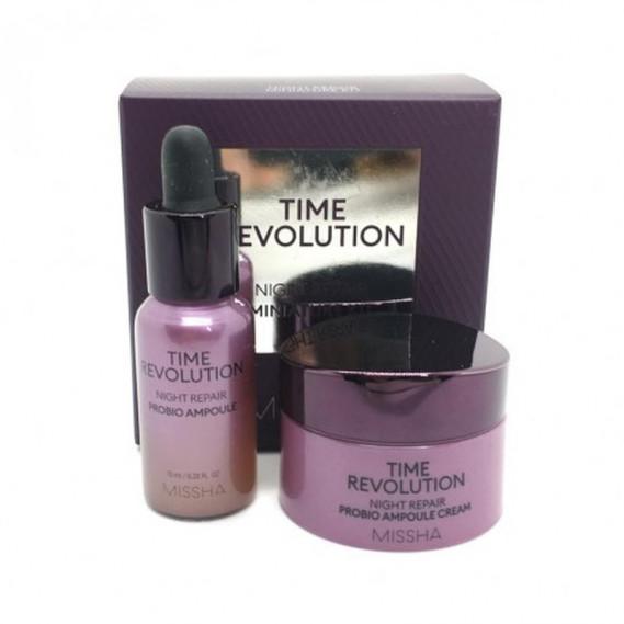 Антивозрастной набор миниатюр ночных средств для лица MISSHA Time Revolution Night Repair Miniature Kit 10 мл + 7 мл
