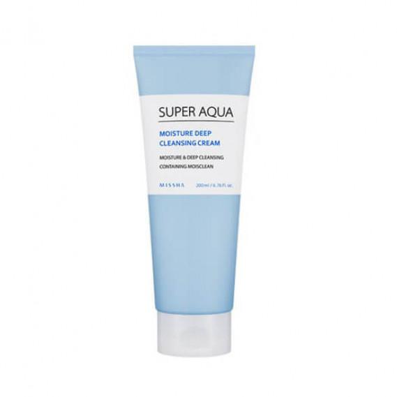 Очищающий крем для лица Missha Super Aqua Moisture Deep Cleansing Cream MISSHA 200 мл
