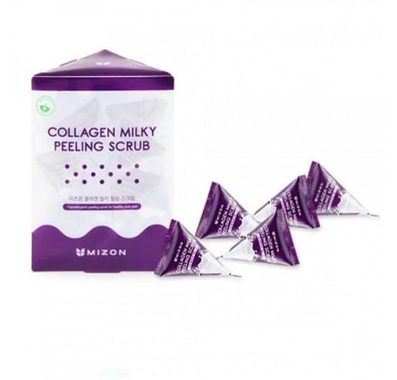Скраб для жирной кожи лица с коллагеном и молочным белком Mizon Collagen Milky Peeling Scrub 7 мл