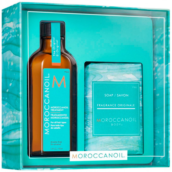 """Набор """"Очищение и Увлажнение"""" Moroccanoil 100 мл + 200 г"""