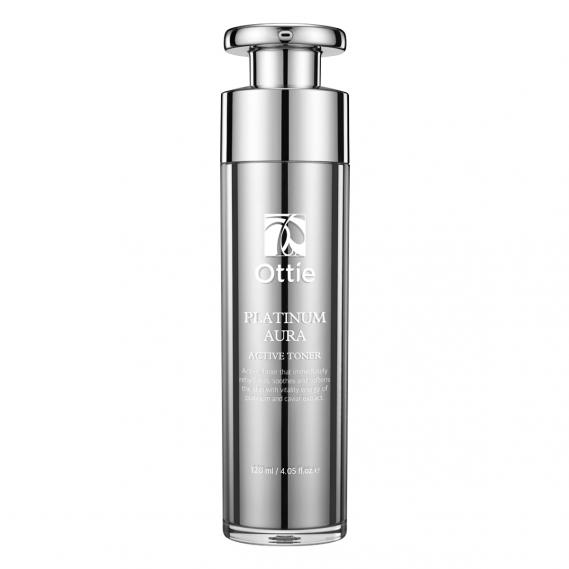 Антивозрастной премиум-тонер с платиной и икрой Ottie Platinum Aura Active Toner 120 мл