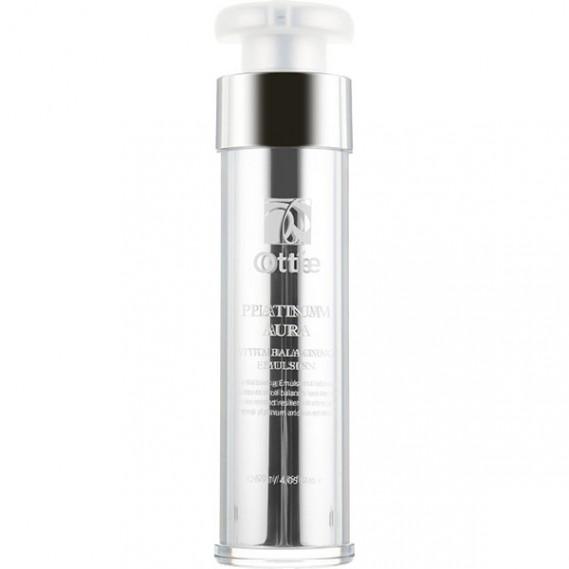 Антивозрастная премиум-эмульсия с икрой и платиной Ottie Platinum Aura Vital Balancing Emulsion 120 мл