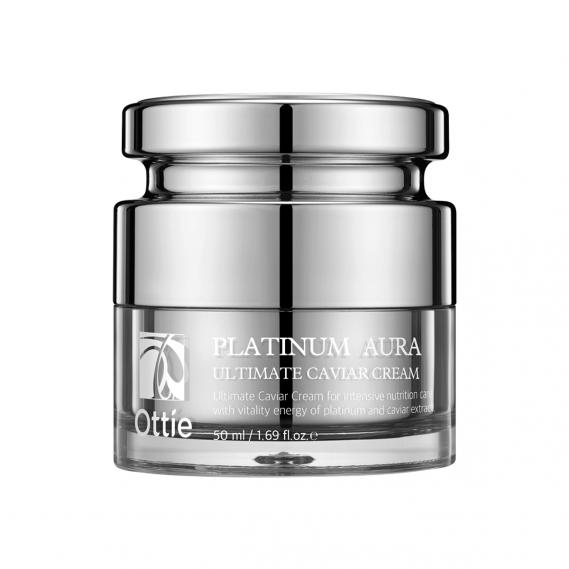 Антивозрастной премиум-крем с икрой и платиной Ottie Platinum Aura Ultimate Caviar Cream 50 мл