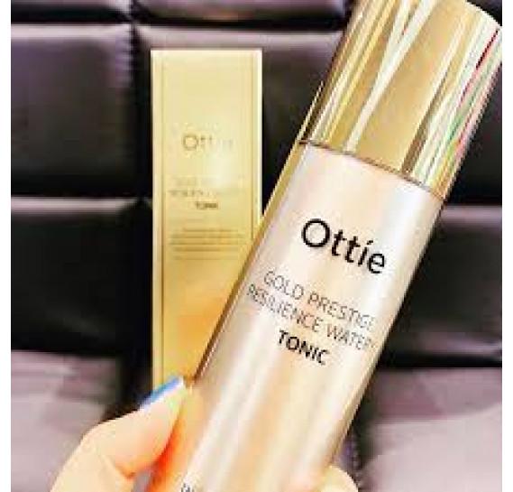 Омолаживающий увлажняющий тонер для упругости кожи Ottie Gold Prestige Resilience Watery Tonic 130 мл