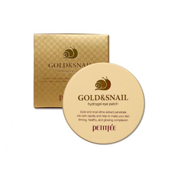 Гидрогелевые патчи для век с золотом и муцином улитки Petitfee Hydro Gel Eye Patch Gold & Snail PETITFEE 60 шт