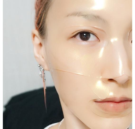 Восстанавливающая гидрогелевая маска для лица с муцином улитки Petitfee Gold & Snail Hydrogel Mask Pack PETITFEE 30 мл