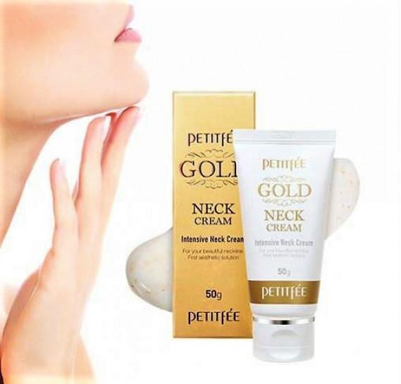 Омолаживающий крем для шеи и декольте с золотом Petitfee Gold Neck Cream PETITFEE 50 мл