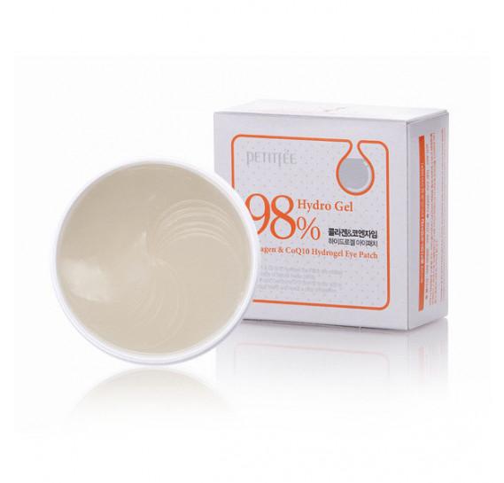 Патчи для глаз с коллагеном и коэнзимом Petitfee Collagen & Co Q10 Hydrogel Eye Patch PETITFEE 60 шт