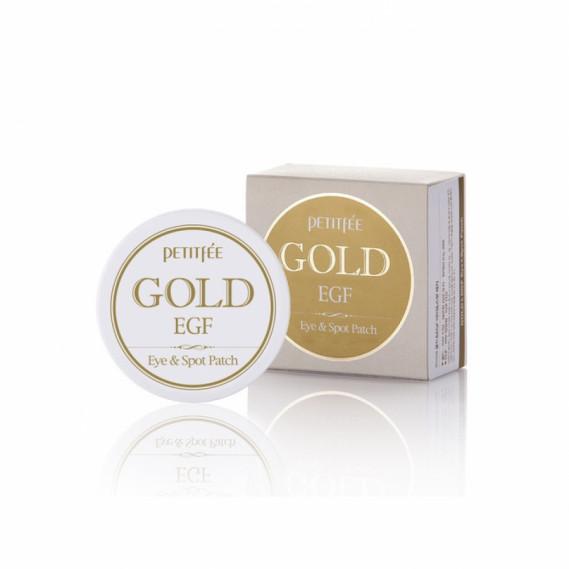 Гидрогелевые патчи для глаз с золотом и Эпидермальным Фактором Роста PETITFEE Gold EGF Eye Spot Patch 90 шт