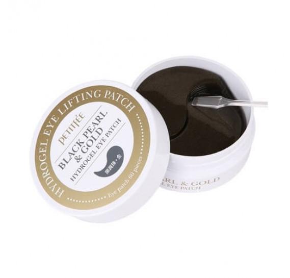 Гидрогелевые патчи для век с чёрным жемчугом Petitfee Black Pearl & Gold Hydrogel Eye Patch PETITFEE 60 шт