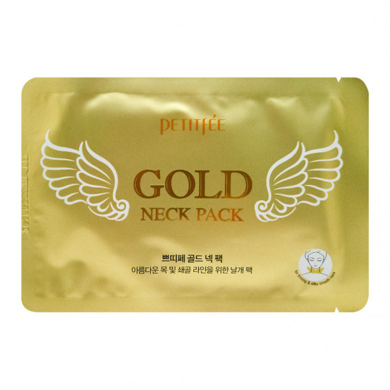 Маски для области шеи Petitfee Gold Neck Pack Hydrogel PETITFEE 10 мл
