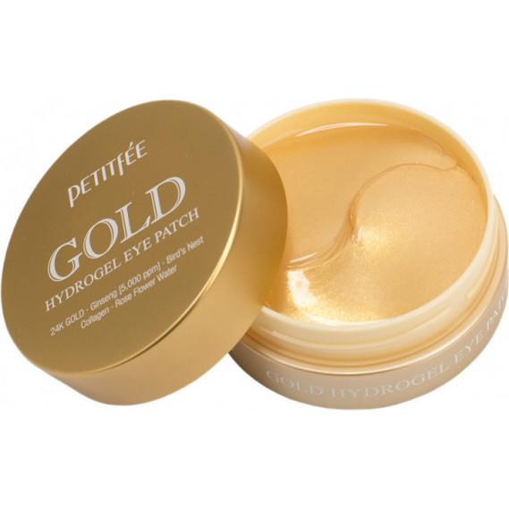 Гидрогелевые патчи для век с коллоидным золотом и коллагеном Petitfee Gold Hydrogel Eye Patch PETITFEE 60 шт