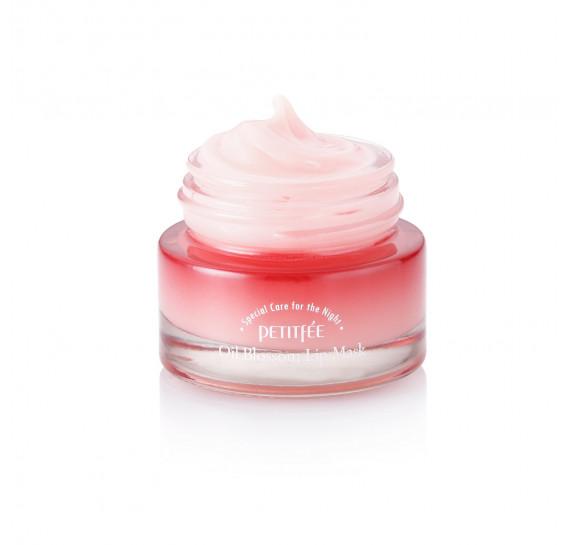 Ночная маска для губ с маслом камелии Petitfee Oil Blossom Lip Mask PETITFEE 15 мл