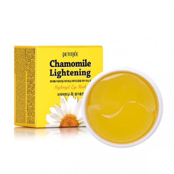 Патчи против темных кругов с экстрактом ромашки Petitfee Chamomile Lightening Hydrogel Eye Mask PETITFEE 60 шт