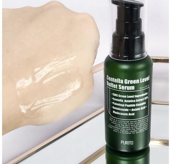 Увлажняющая сыворотка для восстановления кожи с центеллой Purito Centella Green Level Buffet Serum 60 мл