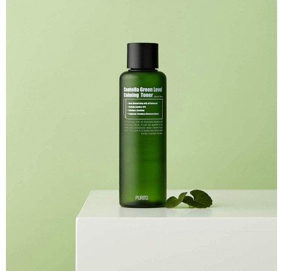 Бесспиртовый успокаивающий тонер с центеллой азиатской Purito Centella Green Level Calming Toner 200 мл