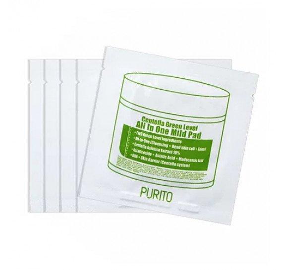 Пилинг-диски с экстрактом центеллы  Purito Centella Green Level All In One Mild Pad Sample 1 шт
