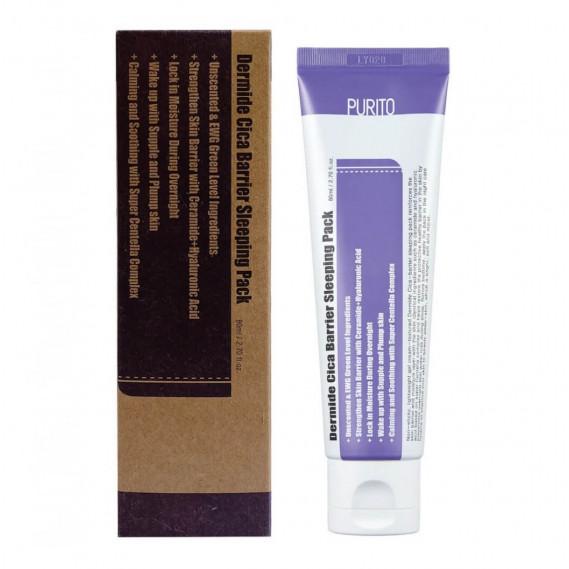 Успокаивающая ночная маска с центеллой Purito Dermide Cica Barrier Sleeping Pack 100 мл