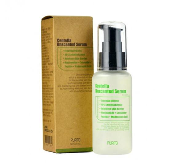 Безмасляная успокаивающая сыворотка для чувствительной кожи Purito Centella Unscented Serum 60 мл
