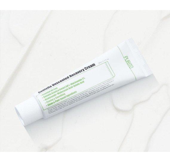 Восстанавливающий и успокаивающий крем с комплексом центеллы Purito Centella Unscented Recovery Cream 50 мл