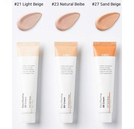 BB-крем для чувствительной кожи с экстрактом центеллы Purito Cica Clearing BB cream #23 натуральный беж 30 мл