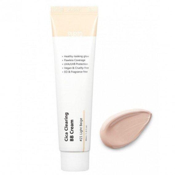 BB-крем для чувствительной кожи с экстрактом центеллы Purito Cica Clearing BB cream #21 светлый беж 30 мл