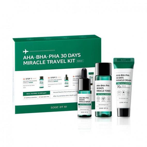 Набор средств от прыщей с кислотами Some By Mi AHA BHA PHA 30 Days Miracle Travel Kit 30 мл + 20 мл + 10 мл