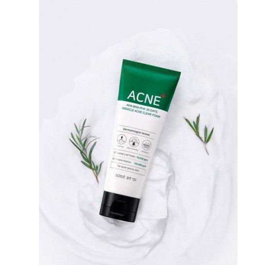 Очищающая пенка для проблемной кожи Some By Mi AHA-BHA-PHA 30 Days Miracle Acne Clear Foam 100 мл