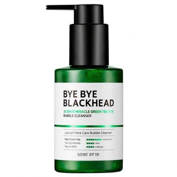 Маска-Пенка Против чёрных точек с салициловой кислотой SOME BY MI Bye Bye Blackhead 30 Days Miracle Green Tea Tox Bubble Cleanser Some By Mi 120 мл