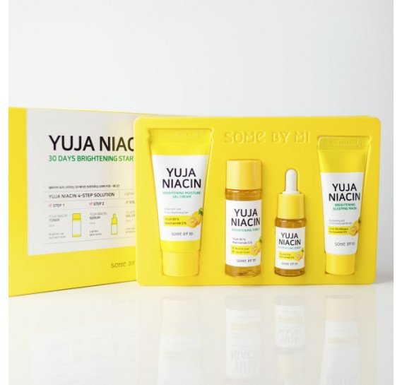 Набор миниатюр с юдзу для выравнивания тона Some By Mi Yuja Niacin 30 Days Brightening Starter Kit 30 мл +30 мл + 10 мл + 20 мл