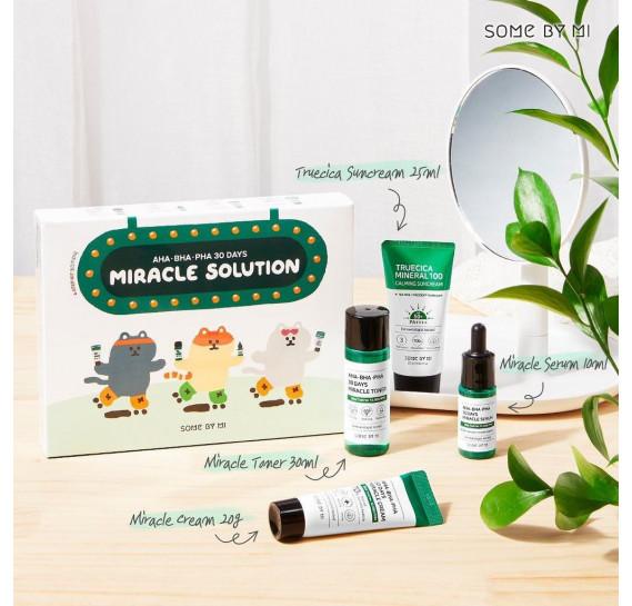 Набор средств для лица с кислотами Some By Mi AHA BHA PHA 30 Days Miracle Solution 4 Step Kit 25мл + 30мл + 10мл + 20мл