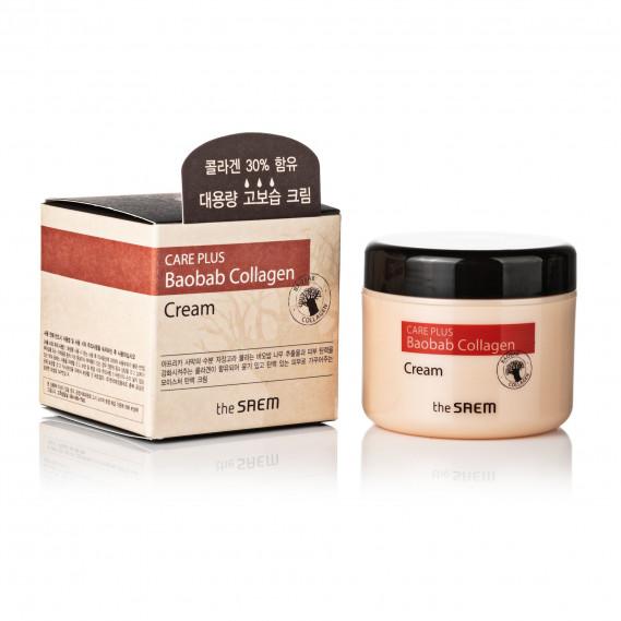 Увлажняющий коллагеновый крем для лица с экстрактом баобаба The Saem Care Plus Baobab Collagen Cream THE SAEM 100 мл