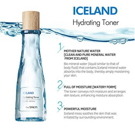 Минеральный увлажняющий тонер The Saem Iceland Hydrating Toner THE SAEM 160 мл