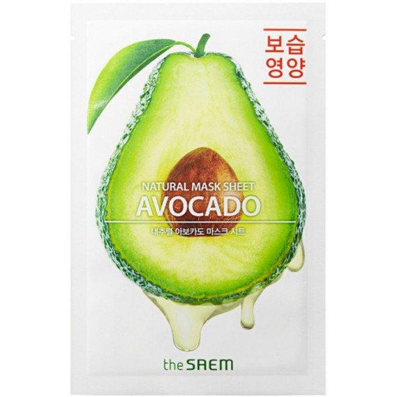 Питательная и увлажняющая маска с авокадо The Saem Natural Avocado Mask Sheet  THE SAEM 21 мл