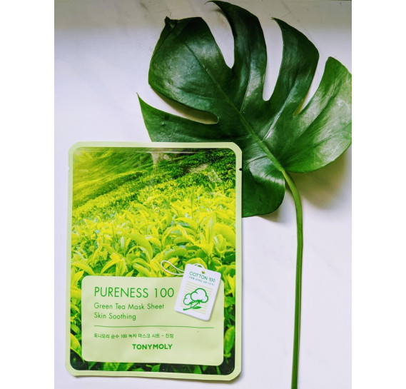 Увлажняющая и успокаивающая маска для лица с экстрактом зелёного чая Tony Moly Pureness 100 Green Tea Mask Sheet TONY MOLY 21 мл