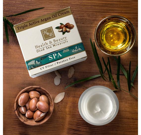 Тройной активный крем с Аргановым маслом Health & Beauty 50 мл