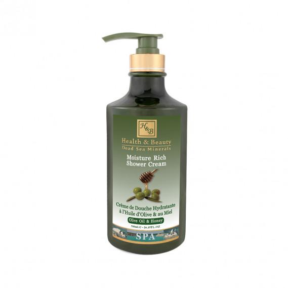 Увлажняющий крем (гель) для душа с оливковым маслом и медом Health & Beauty 780 мл