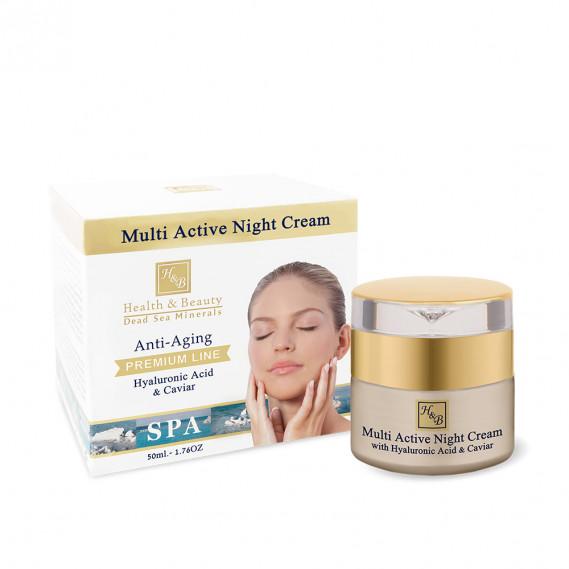 Мультиактивный ночной крем с гиалуроновой кислотой и экстрактом икры Health & Beauty 50 мл